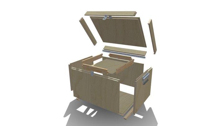 Caisse à Outils - Vue en éclaté 3D Model