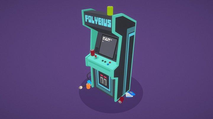 Polybius Arcade Machine 3D Model