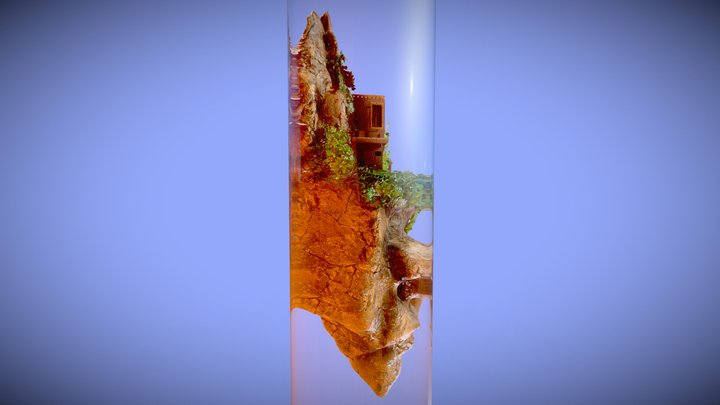Corked Diorama in a Test Tube 3D Model