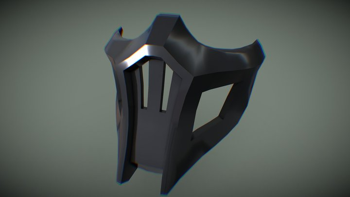 Noob Saibot mask simple 3D Model