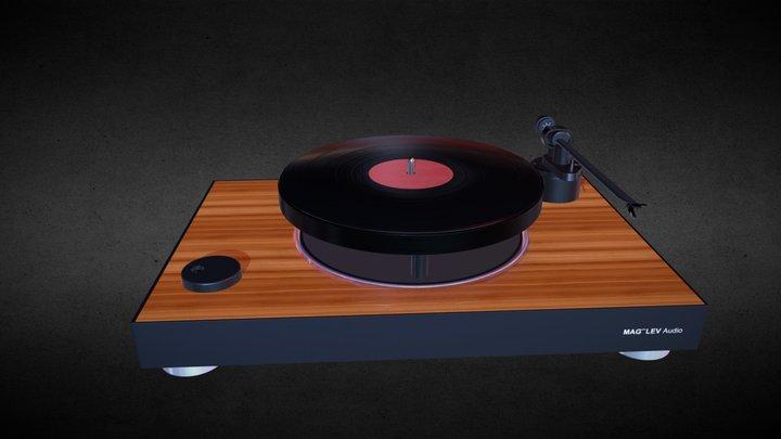 MEG LEV Audio Record Player 3D Model