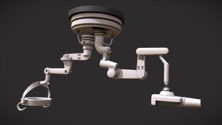 Medical Light and Scanner 3D Model