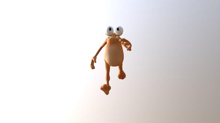 Frog Run 3D Model