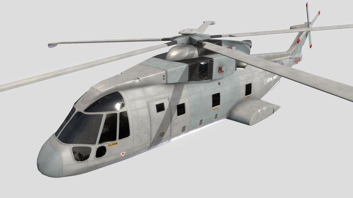 Merlin MK2 Helicopter 3D Model