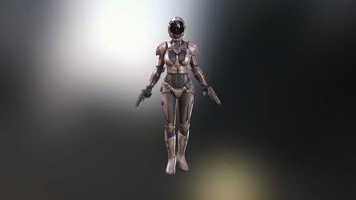 Battle Mech Series - Adroit Female Armor_Steel 3D Model