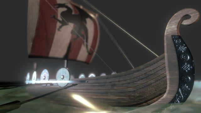 Vikings Longboat 3D Model