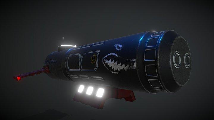 Submarine K-470 3D Model