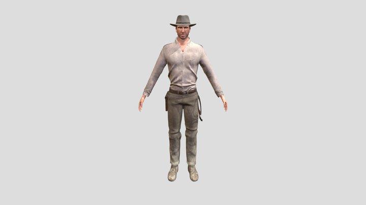 Harrison Fords Indiana Jones 3D Model