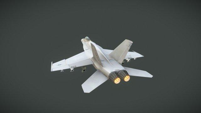 F-18-Super Hornet Android Mobile asset 3D Model