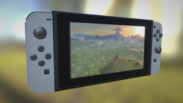 The Nintendo Switch 3D Model