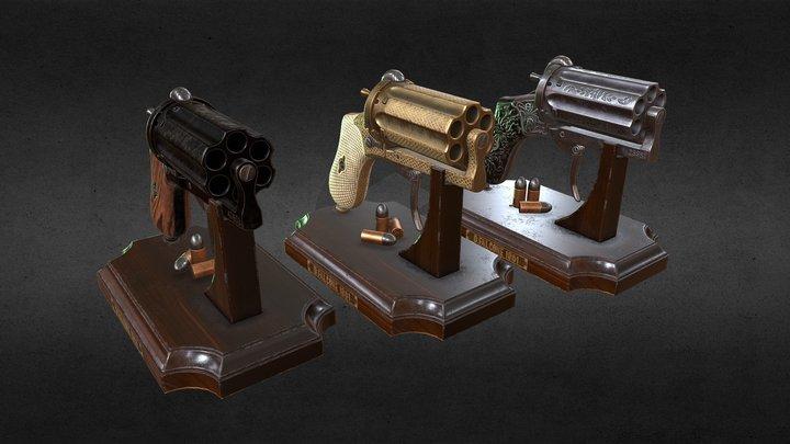 Lefaucheux Pepperbox 3D Model