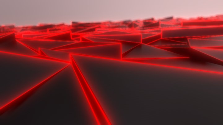 Abstract red background 3D Model