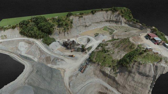 3d mining: volume calculations based on UAV data 3D Model