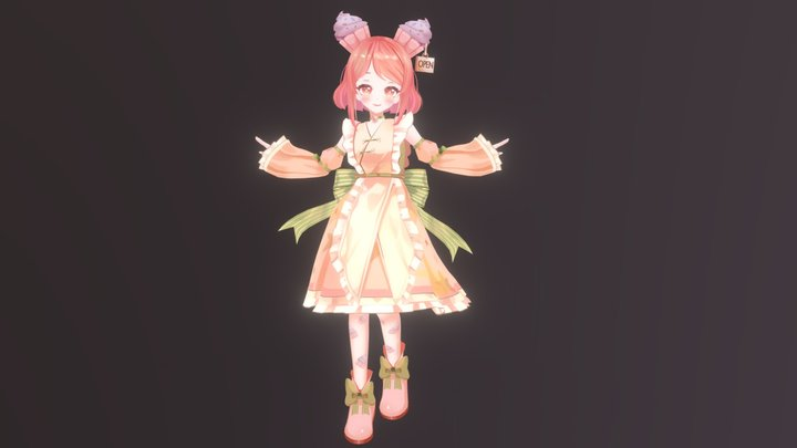 ChiChi - Original character 3D Model