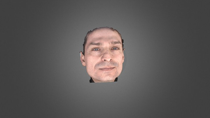 3D Face scanner Facense Model: Man 3D Model