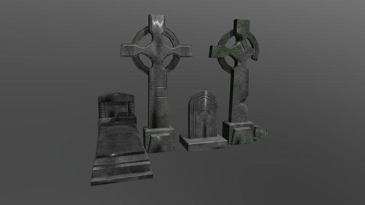 Gravestones 3D Model