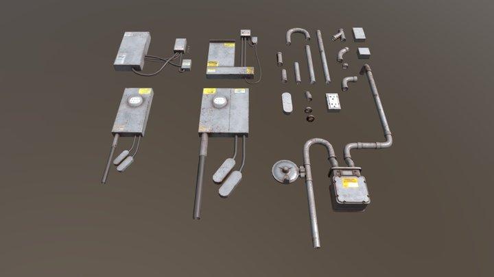 General Works Utilities Meter 3D Model