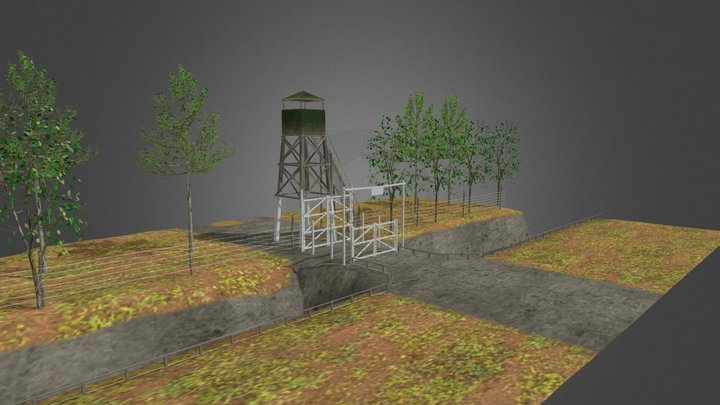 Watchtower, trench & entrance -Aguthi Works Camp 3D Model