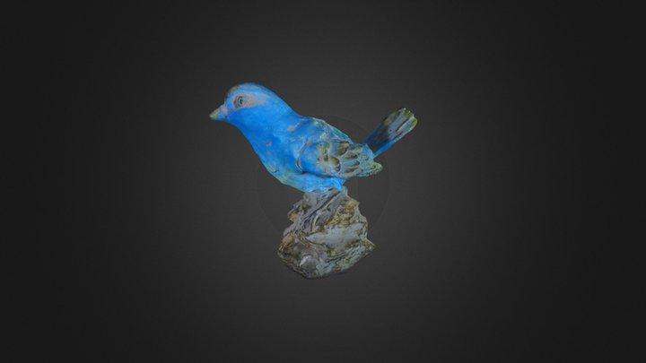 Blue Bird Statue 3D Model
