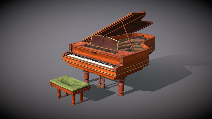 Victorian Grand Piano 3D Model