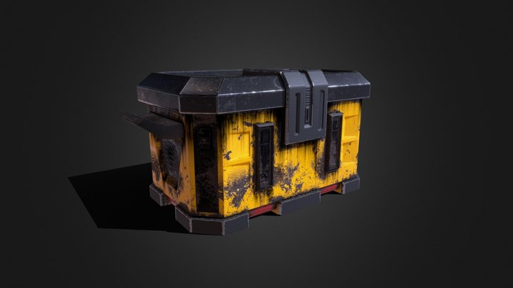 Industrial Sci-Fi Container 3D Model