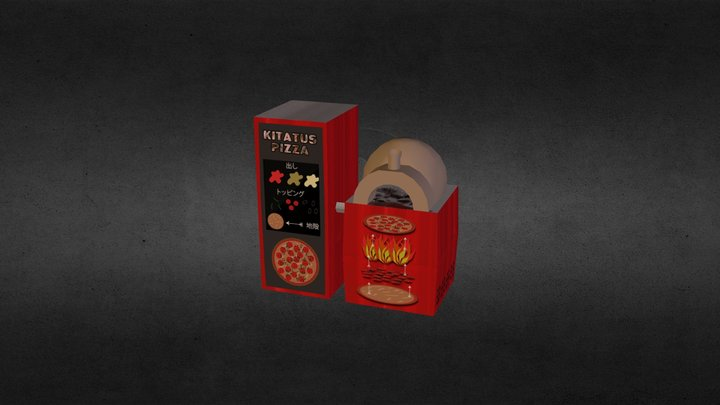 Pizza Vending Machine 3D Model