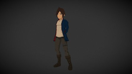 Damien - Low-poly game character 3D Model