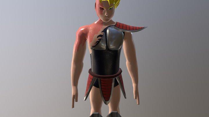 Super Saiyan OC 3D Model
