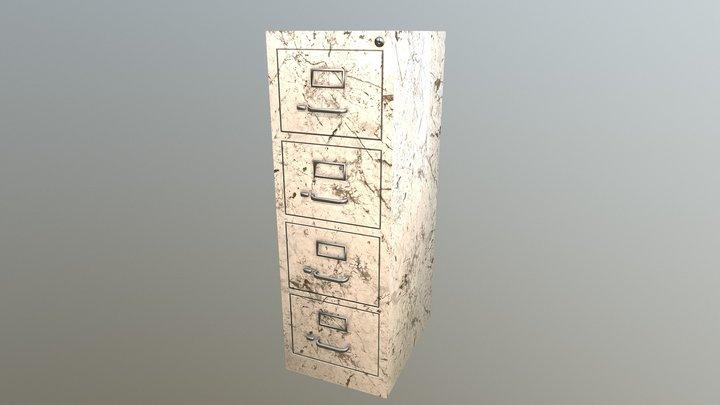 Filing Cabinet - Marble Variant 3D Model