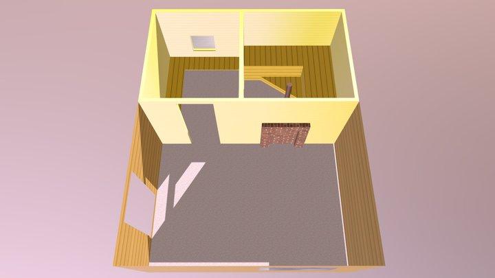 Умырзая- обшивка баня 3D Model