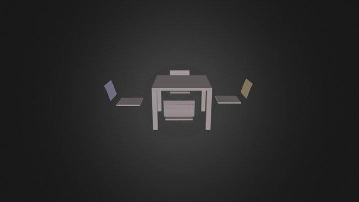 Mesa + Silla 3D Model