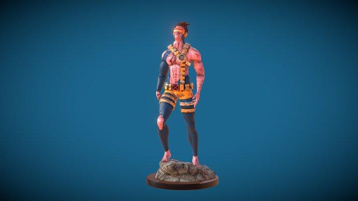 Cyclops Character Scott Summers 90s 3D Model