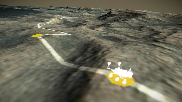 Curiosity Crossing the Dunes @ Murray Buttes 3D Model