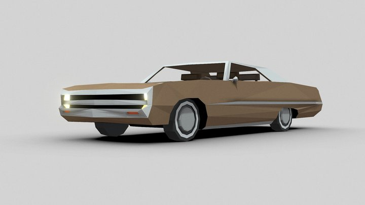 1970 Chrysler 300 3D Model