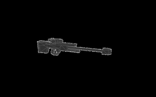 Sniper rifle new mesh 3D Model