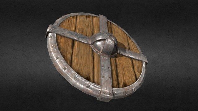 Viking shield. 3D Model