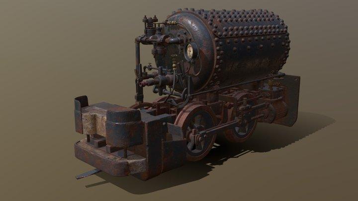Pneumatic Locomotive 3D Model