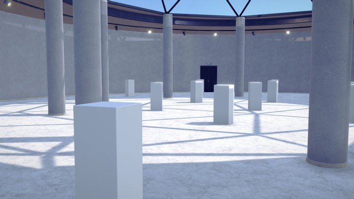 Virtual Reality Gallery 3D Model