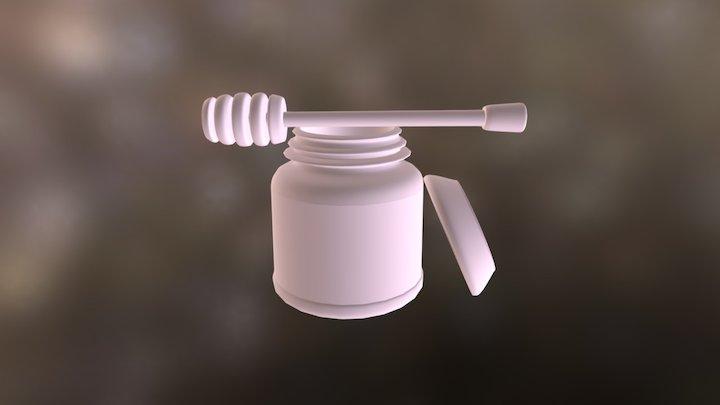 Jar,lid, Honeywand 3D Model