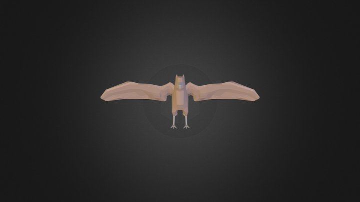 Low Poly Griffin 3D Model