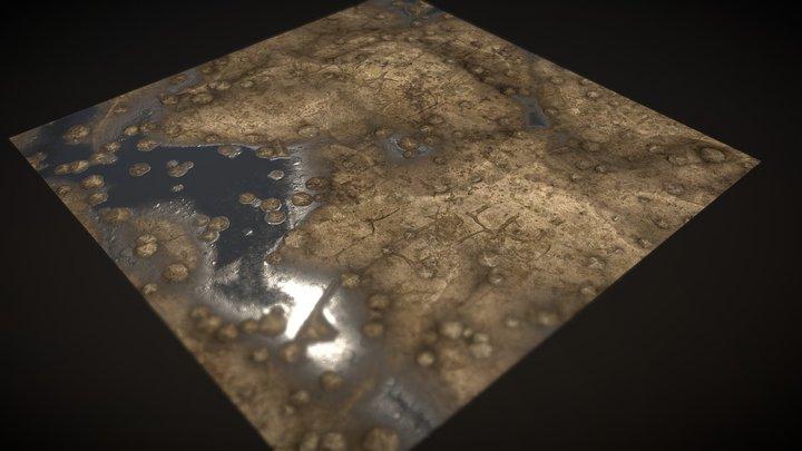 Tiling Rock ground / Planar low 3D Model