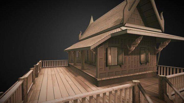 Asian style house 3D Model