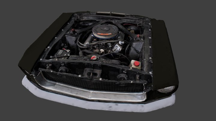 Midnight Mare, ACI's 1967 Ford Mustang (Engine) 3D Model