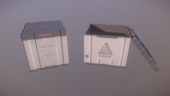 [WIP] SciFi Crates Pack 1.1 3D Model