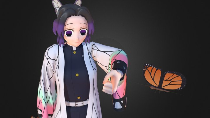 Shinobu Kochou 3D Model