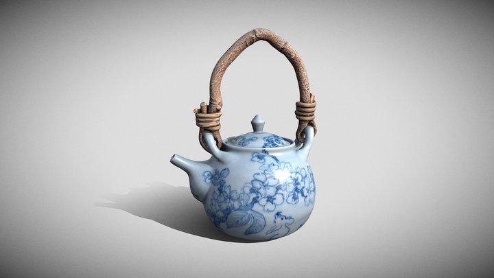 桜図藤蔓急須 (Sometsuke Kyūsu Tea Pot) 3D Model