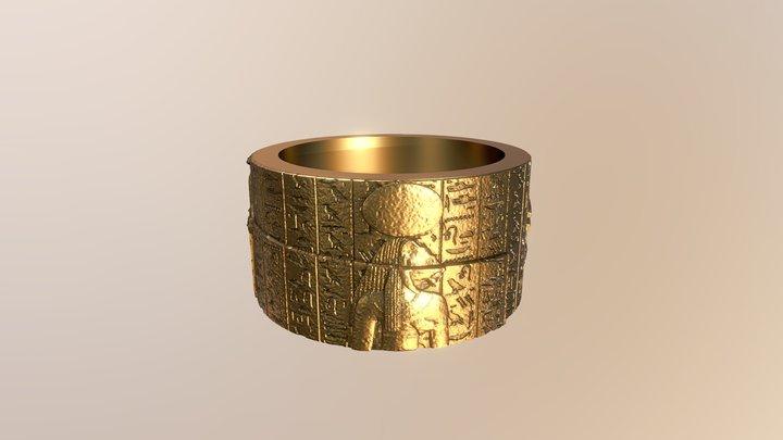 Heiroglyphic Ring 3D Model