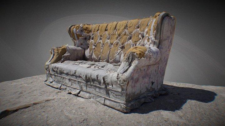 abandoned sofa 3D Model