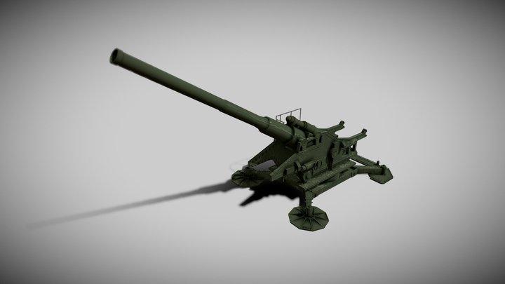 210-mm cannon Br-17 (210-мм пушка Бр-17) 3D Model