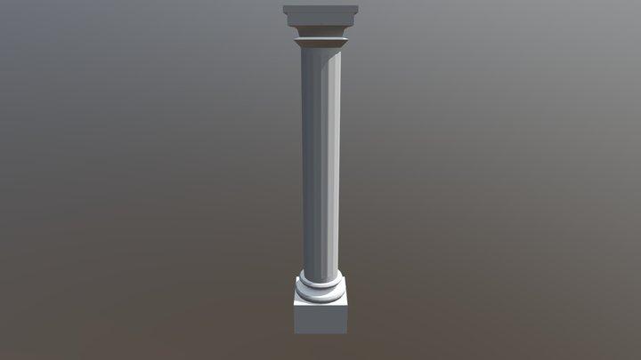 Non-textured Column 3D Model